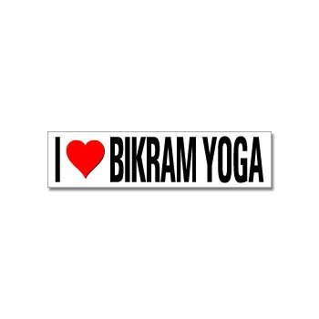 Amazon.com: I Love Heart Bikram Yoga – Ventana parachoques ...