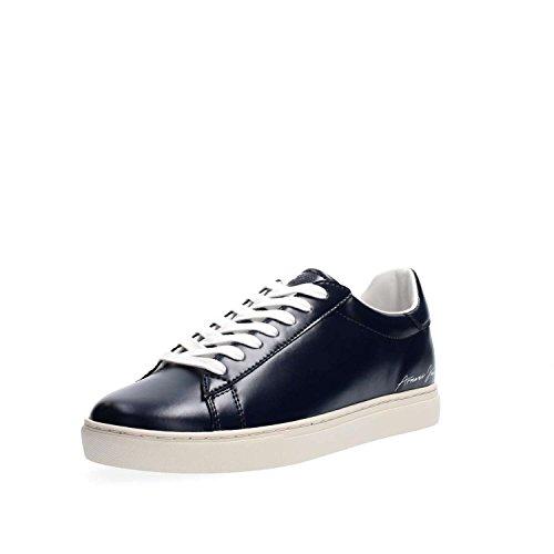 Armani Jeans Signature Low Top Uomo Sneaker Nero Blu