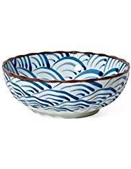 Blue Ocean Wave Bowl 7.25