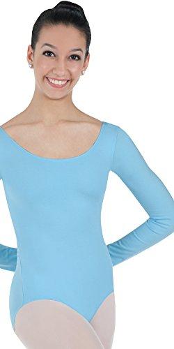Body Wrappers Prowear Long Sleeve Ballet Cut Leotard, Light Pink, 2X