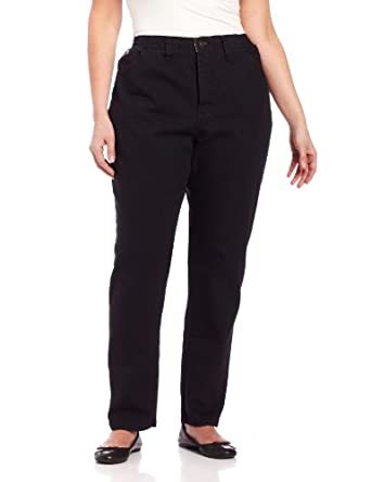 LEE Women's Plus Size Relaxed-Fit Elastic-Waist Jean at Amazon ...