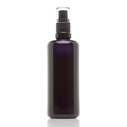 Infinity Jars 100 Ml (3.4 fl oz) Black Ultraviolet Glass Fine Mist Spray Bottle