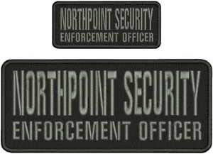 NORTHPOINT Security E O Embroidery Patch 4X10 & 2X5 Hook ON Back BLK/Gray by HighQ ()
