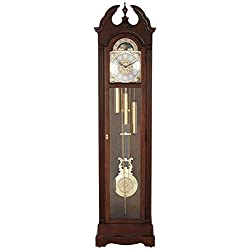 Howard Miller Burnett Floor Standing Grandfather Clock, Cherry Bordeaux