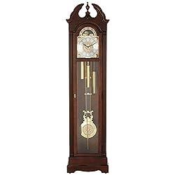 Howard Miller Burnett Floor Standing Grandfather Clock, Cherry Bordeaux