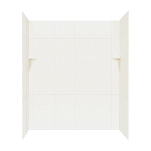 (Swanstone SQMK723662.018 Solid Surface Glue-Up 3-Panel Bathtub Wall Kit, 36-in L X 62-in H X 72.5-in H, Bisque )