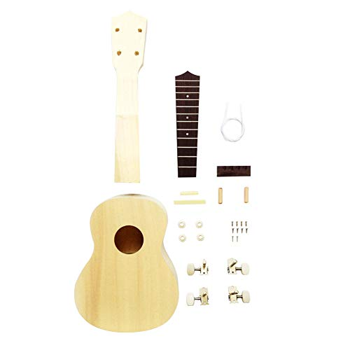 Zimo DIY Ukulele Make Your Own Ukulele Hawaii Ukulele Kit(21in) ()