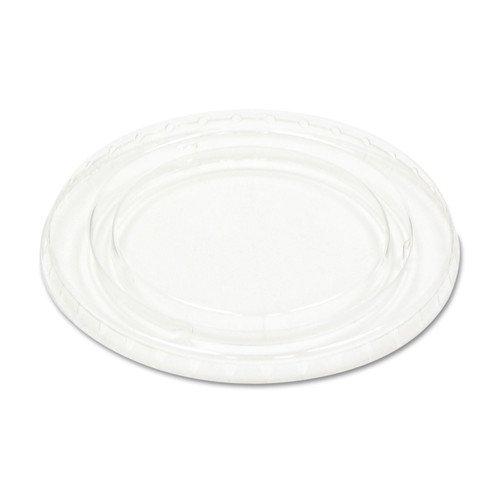 Boardwalk YLS5FR Crystal-Clear Portion Cup Lids, 5.5 oz., Clear (Case of 2500)