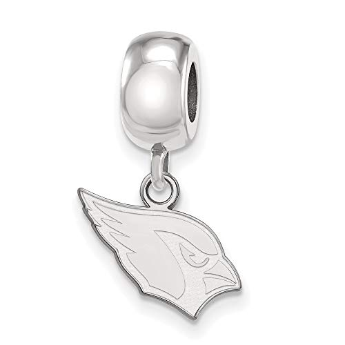 NFL Sterling Silver Arizona Cardinals Bead Charm XS Dangle ()