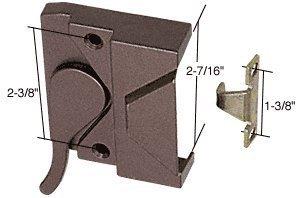 CRL Bronze Right Hand Casement Window Lock - 3/8'' Screw Holes by CR Laurence by CR Laurence by CR Laurence