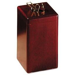 Wood Tones Paper Clip Holder, Wood, 2 1/8 x 2 1/8 x 3 1/2, Mahogany, Sold as 1 Each
