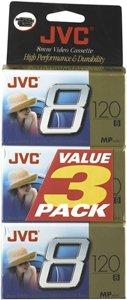 Jvc P6120Jdu3 8Mm Video Tape (3-Pk) by JVC