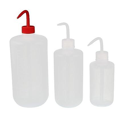eDealMax 250ml 500ml 1000ml de plástico blando pico afilado codo Botella de Plástico Kit de riego