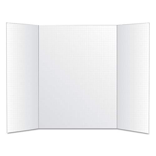 Royal Brites Foam Tri-Fold Grid Board, 22 x 28, White - 26881, 5 packs ()