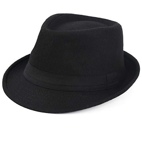 Melesh Unisex Classic Trilby Fedora Hat -