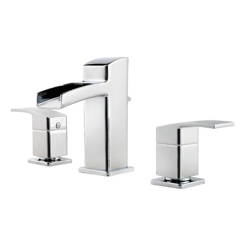 Pfister GT49DF0C Kenzo 2-Handle 8 Inch Widespread Waterfall Bathroom Faucet in Polished Chrome