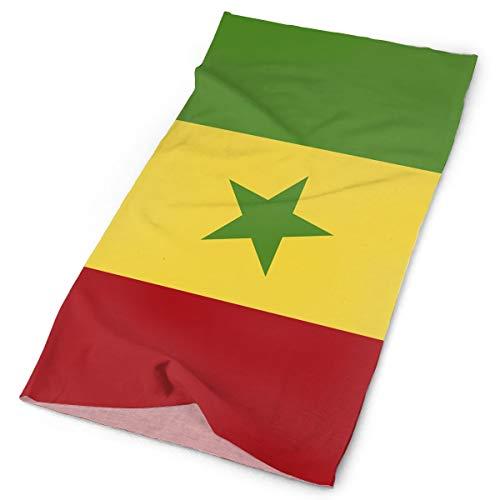 Yisliferunaz Striped Senegal Flag Headband Men Women Headwrap Magic Head Scarf Bandana Headwear Neckerchief Multifunction Balaclava Novelty Headdress Scrunchie Face Mask Neck - Colors Flag Senegal