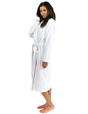 TowelSelections Women's Robe, Turkish Cotton Terry Shawl Bathrobe Made in Turkey