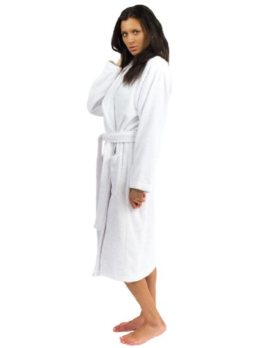TowelSelections Terry Cloth Bathrobe - Shawl Collar Terry Robe for Women and Men, 100% Turkish Cotton, Made in Turkey (White,L/XL) ()