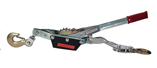 3 Ton Winch Come Along 2 Hooks - Dual Ratchet Gear Heavy (2 Ton Dual Ratchet)