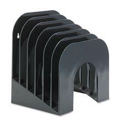 * Six-Tier Jumbo Incline Sorter, Plastic, 9 3/8 x 10 1/2 x 7 3/8, Black