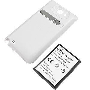Mugen Power Extended Battery with Battery Cover for Samsung Galaxy Note (AT&T) i717, White by Mugen