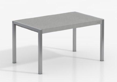 Mesa Extensible Concept - Encimera Porcelanico Cemento/Patas Aluminio, 120X80 cms: Amazon.es: Hogar