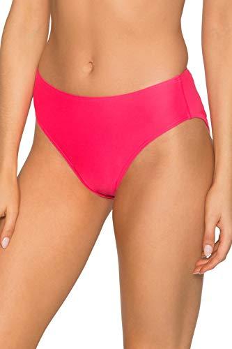 - Sunsets Women's Basic Mid Rise Bikini Bottom Swimsuit, Hot Pink, Small