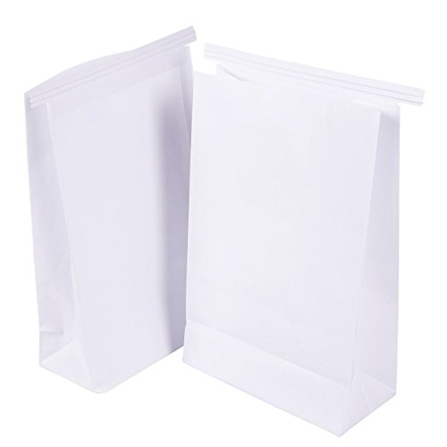50-Pack Vomit Bags - No Print Plain White Emesis Barf Bags for Motion Sickness and Morning Sickness, Paper Puke Bag, 6 x 2.6 x 9.7 inches by Juvale (Image #7)