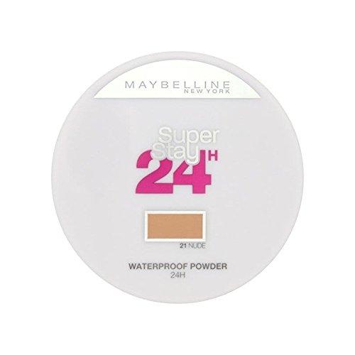 Maybelline SuperStay24H Pressed Powder 021 Nude 9g (Pack of 6) - メイベリン24は粉末に021ヌード9グラムを押します x6 [並行輸入品] B0718YZYBS