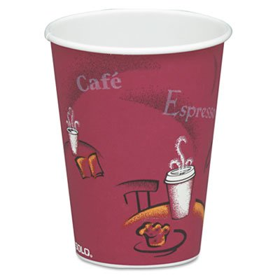 Solo Bistro Single-sided Poly Papel Hot Copa