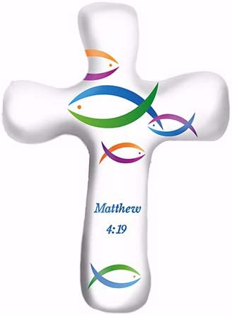 Calypso Studios by First & Main 5.5 Modern Scripture Comforting Clay Cross