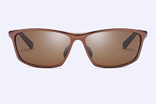 de Retro protección Negro UV Completo magnesio conducción Marco XIYANG de para Brown Sol Viajar polarizadas Gafas y Aluminio Gafas de Sol Hombres ggqFxA0