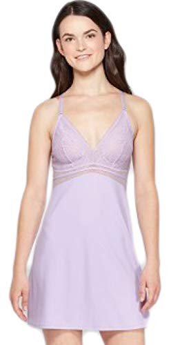 Lightly Lined Chemise Violet Villa (X-Small)