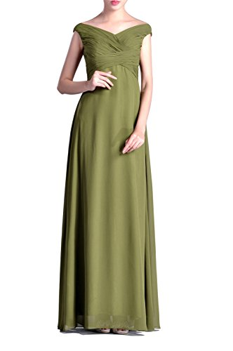 Straps V Natrual Bridesmaid Special Dress Occasional Rot A Chiffon line neck Long gdqwAx5qr