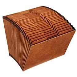 Office Depot Expanding File, Letter, 1-31, 31 Pockets, Brown, OM01418