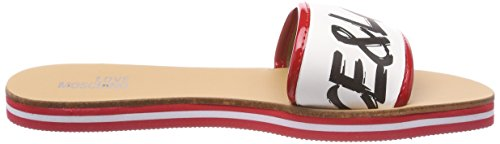 White Nap 20 red Sabotd Love Moschino 54418 Multicolore Vern Femme Mules bian Rosso qIaPx
