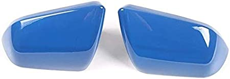 WYBF Automotive Sicher Fl/ügel Spiegelabdeckungen Auto Au/ßenseitent/ür R/ückspiegel Dekoration Abdeckung for Ford Mustang 2015 Protective Replacement Covers 812 Color : A Blue
