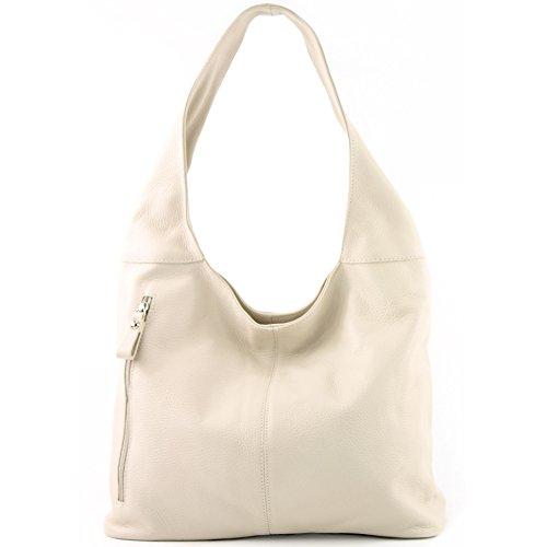 Bolso hombro de Wildleder de de ital T166 hombro T150 Creme Bolso Damentasche de Bolso cuero modamoda WSvfBAgg