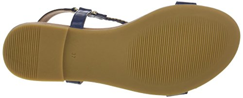 Navy Sandalias Con Vertical Inuovo Bleu 7114 Tira Mujer 5qO0nwfgzx
