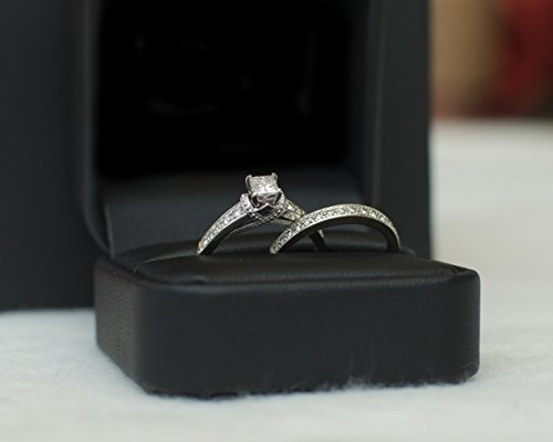 1/2 Ct. Tw. Diamond Engagement Ring in 14k Gold & Matching Wedding Band