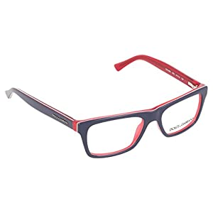 Dolce&Gabbana URBAN DG3205 Eyeglass Frames 1872-47 - Top Blue On Red DG3205-1872-47