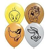 """5"""" Looney Tunes Faces Assortment Balloon 100 per bag"""