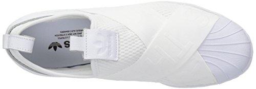 Adidas Original Kvinnor Super Slipon W Gymnastiksko Vit / Vit / Kärna Svart