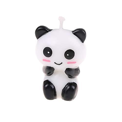 WWWL Creatieve kaars 1 st Leuke Panda Verjaardag Cake KaarsenCartoon Dier Kunst Kaars Cake Toppers Baby Douche…