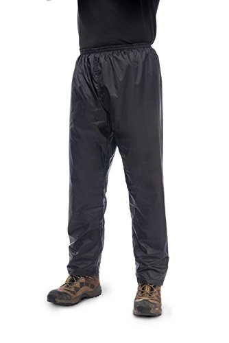 Mac in a Sac Unisex Origin Waterproof Packable Over Pants XL Jet Black