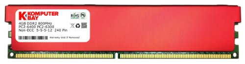 DIMM (240 pin) 800MHZ PC2-6400 PC2-6300 Desktop RAM with Red Heatspreaders for extra Cooling CL 5-5-5-12 (Pc2 6400 Cl5 240 Pin)