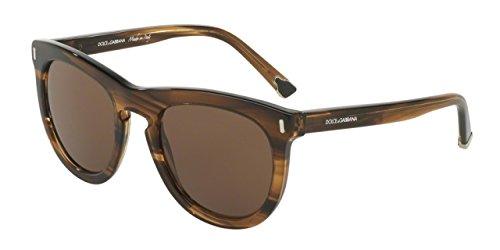 Dolce & Gabbana Men's 0dg4281f Wayfarer Sunglasses, Striped Tobacco, 52 - Gabbana Dolce Sunglasses Wayfarer And