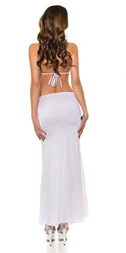 KouCla - Vestido - Escotado por detrás - Básico - para mujer 3 Weiss