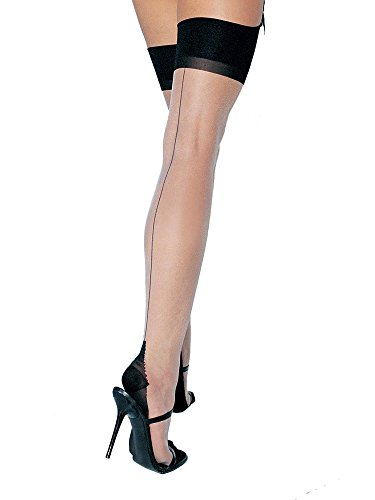 Leg Avenue 1024Q Women's Two Toned Lycra Sheer Thigh High Stockings - Plus Size - ()
